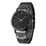 Reloj Metálico Negro Elegante Mayoreo Envio Gratis