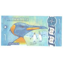 Billete Antartica 1 Dolar (2015) Pinguinos (polimero)