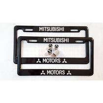 Par Porta Placas Y 4 Tapones Cubre Pivotes Mitsubishi Motors