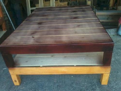 Base de cama individual 100 de madera 950 d7gs7 precio for Base para cama individual precios