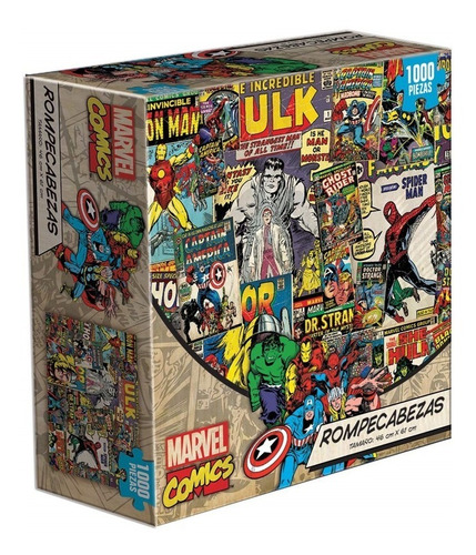 Marvel Comics Collage Spiderman Thor Rompecabezas 1k Novelty