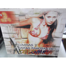 Cumbias Y Gaitas Famosas De Colombia Triple Cd Nuevo Sellado