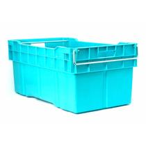 Caja De Plastico Enfilable Cerrada Con Asa Metal 78 X 45 X 3
