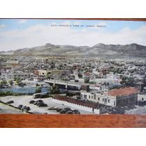 Antigua Postal Cd Juarez A Vista De Pajaro Año 1900