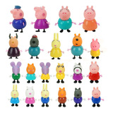 21 Pcs Figura Acción Peppa Pig Juguetes Regalo Niños