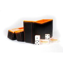 Domino Miniatura Bachoco 4 Capas. Estuche 2 Piezas Grabado