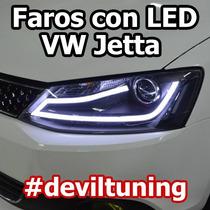 Faros Led Vw Jetta A6 Mk6 / Promocion Julio Devil Tuning