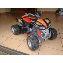 Cuatrimoto Kawasaki Power Wheels 12 Volts Buen Estado