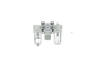 Modulador F.r.l. Con Manómetr Conexion De 1/4 Smc Ac20-02g-a