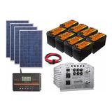 Sistema Panel Solar Autonomo Isla 4000wh Diarios