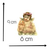 Figura De Ceramica Angel Con Conejo