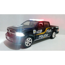 Dodge Ram Patrulla Policia D.f. Con Luz Esc. 1:24