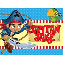 Kit Imprimible Capitan Jake Y Los Piratas Diseña Tarjetas