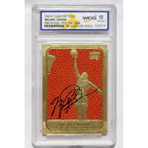 Michael Jordan Tarjeta Fleer 23kt Gold Rookie Signatures 10