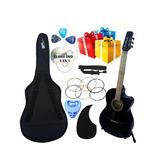Guitarra Acustica Curva Nuevos Accesorios Completos Gratis