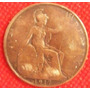 1 Penny 1917 Gran Bretaña Mneda Inglaterra Rey Jorge V - Hm4