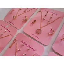 330d76bd3eb6 Lote 12 Sets De Collar + Aretes + Anillos Bisutería Mayoreo en venta ...