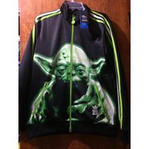 Adidas Star Wars Chamarra Yoda Para Niños Talla 12-14 Años