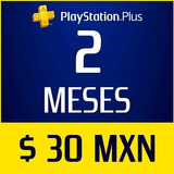 Ps Plus Ps4 2 Meses Psn $30 Playstation *no Codigo