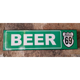 Beer Cerveza Cantina Cuadro Cartel Bar Carretera Señal