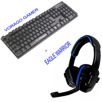 Kit Eagle Warrior + Vorago ,teclado Base Aluminio Iluminado