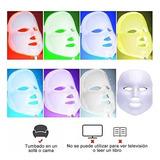 Máscara Facial 7 Led Luz Colores Antiarrugas Cuidado Piel