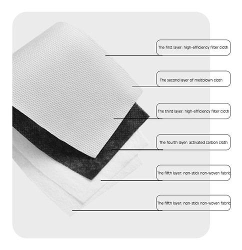 10 Filtros N95 Carbón Activado 2.5 De 5 Capas Certificado
