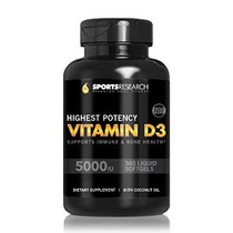 5000iu Vitamina D3 (alta Potencia) 360 Cápsulas; Mejorado Co