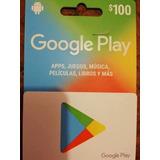 Tarjetas Google Play