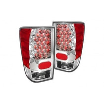 Calaveras Led Cromadas Para Nissan Titan 2004 - 2013