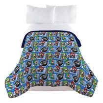 Edredon De Mario Bros.Super Mario Bros Nintendo Cobertor Cobija Edredon Colcha Ori En