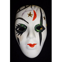 Máscara Cerámica Carnaval De Venecia. Adorno De Colección.