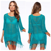 Vestido De Playa Pareo, Salida De Playa Beach Cover Up Mujer
