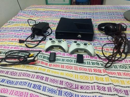 Kit Xbox 360 Chip Rgh 2 Controles Base Carga Audifonos 33 Ju