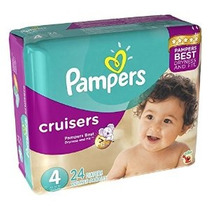 Pampers Cruisers Pañales - Tamaño 4-24 Ct