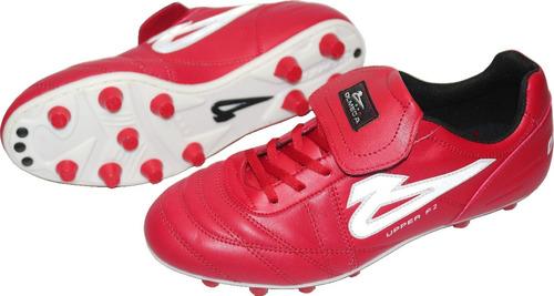 Zapatos Futbol Soccer Olmeca Upper Rojo En Piel mf -   689 en ... 471dbfeebd368