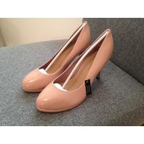 Zapatos De Dama Marca New Look Talla 4.5 Color Palo De Rosa