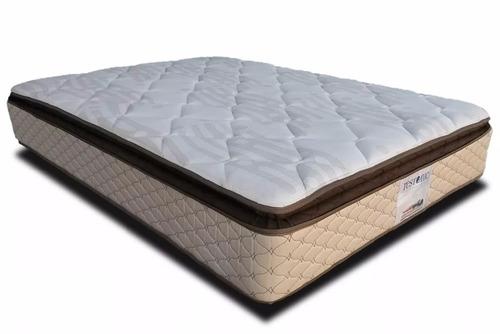 Colchon queen size anti acaros y no vuelta cama restonic for Cama queen precio