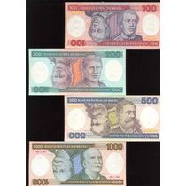 Colección De 4 Billetes De Brasil (simétricos)