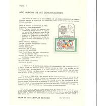 Hoja Primer Día Año Mundial De Las Comunicaciones 1983 Vbf