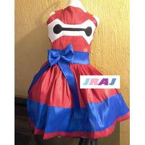 Disfraz De Baymax Vestido Niña De Grandes Héroes