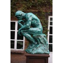 Remate Escultura El Pensador De Rodin Muy Grande