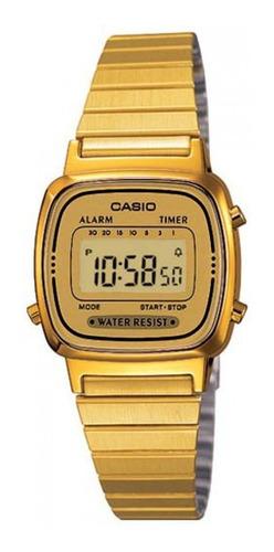 Reloj Casio Retro La670 Dorado Dama Acero Inoxidable en
