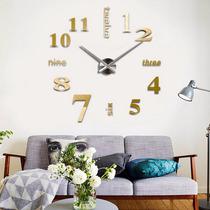 Reloj Moderno Minimalista De Pared Tipo Espejo De Cristal