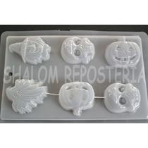 *molde Mediano Para Hacer 6 Figuras Halloween Gelatina Jabon