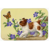 Papillon Del Perrito De La Cocina O El Baño Mat 20x30 Asa22