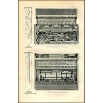 Lienzo Tela Grabado 1 Pianola Alemania 1900 Diagrama Raro