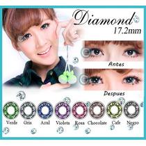Pupilentes Big Eye Diamante 17.2mm 365 Dias De Uso!!!