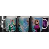 Frozen, Anna, Elsa, Olaf Muñecos De Nieve Taza Blanca Disney