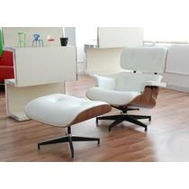 Silla Sillon Lounge Eames Piel Lujo Confort Estilo Diseñador